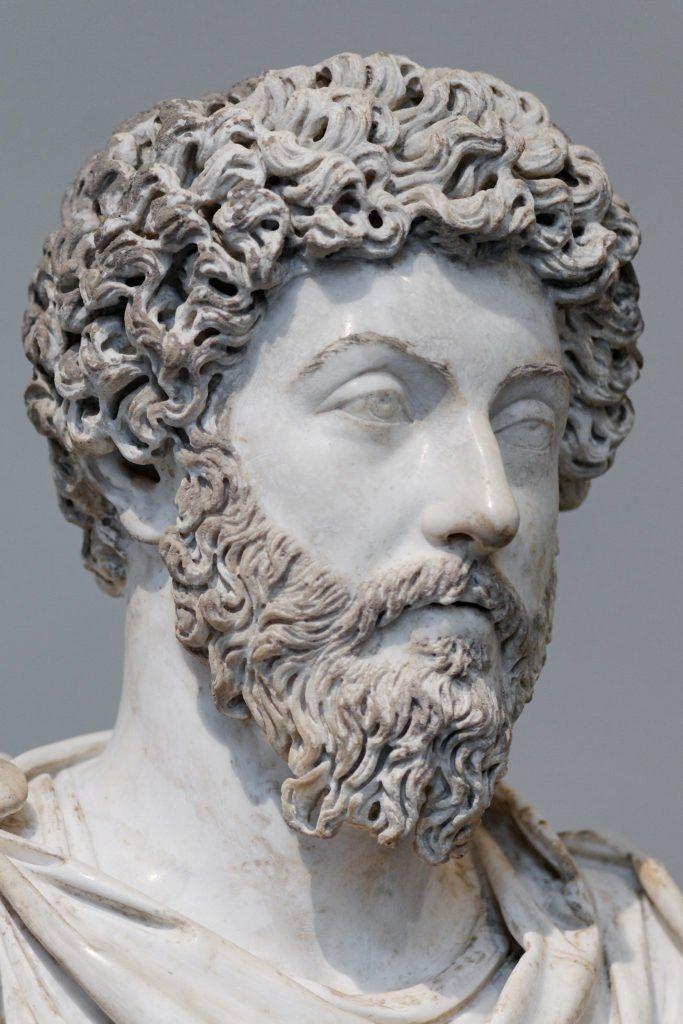 Busto de Marco Aurelio, expuesto en el museo del Louvre