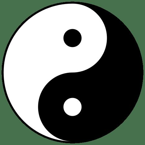 El símbolo del Ying y el Yang representa la convivencia de la norma con la excepción