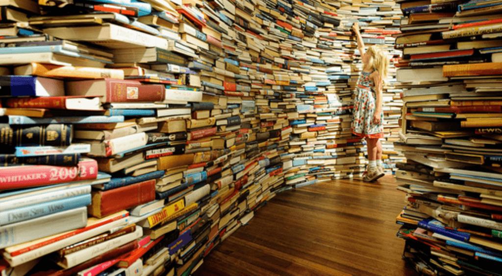 Esta imagen simboliza el gran número de libros publicados hasta 2010. ¿Cuantos de estos libros pertencerán a la lista de los 7 libros para el estoico del siglo XXI?