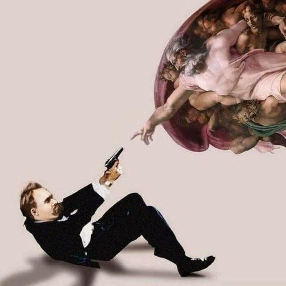 """Representación de la frase de Nietzsche """"Dios ha muerto"""""""