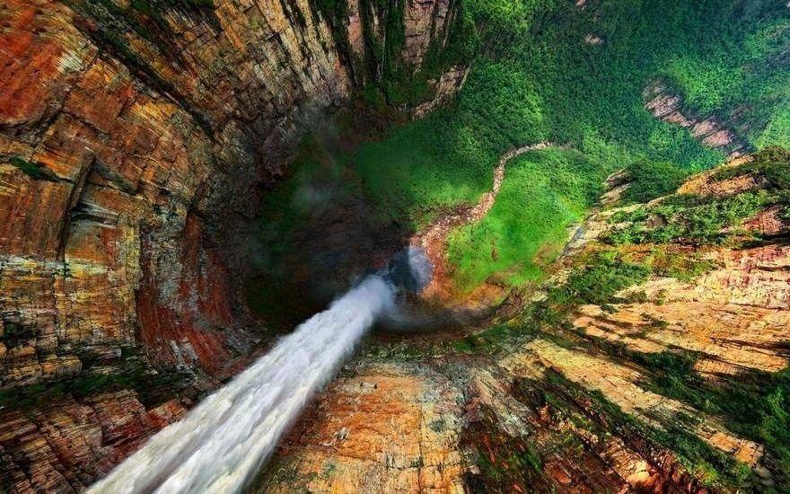 cascada vista desde arriba