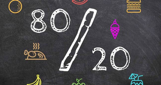 Alimentación Flexible: la regla del 80/20