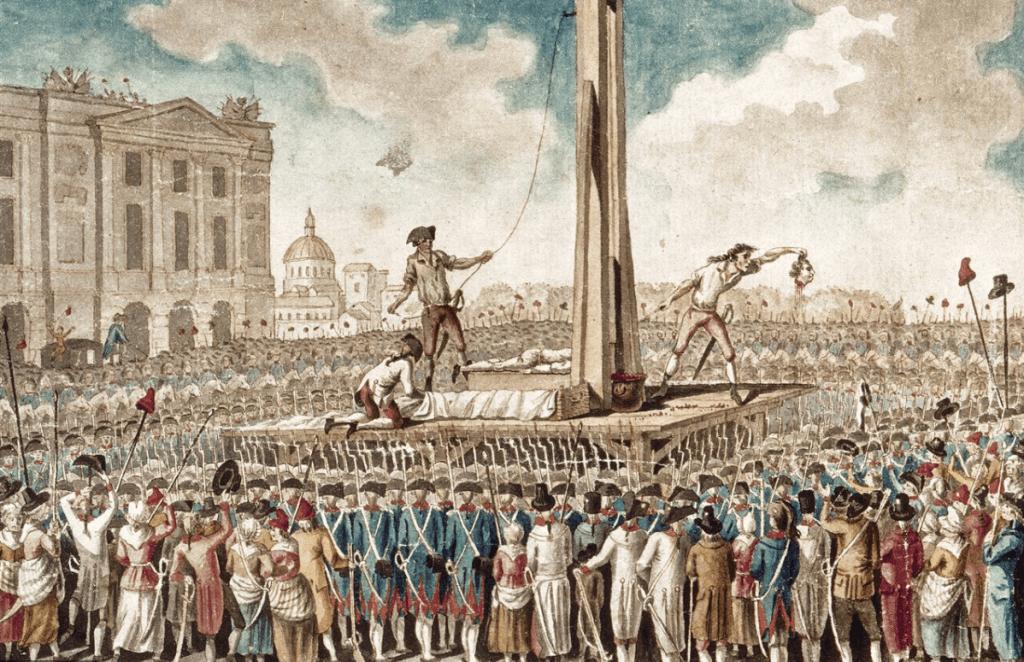 Ejecución pública durante la revolución francesa.