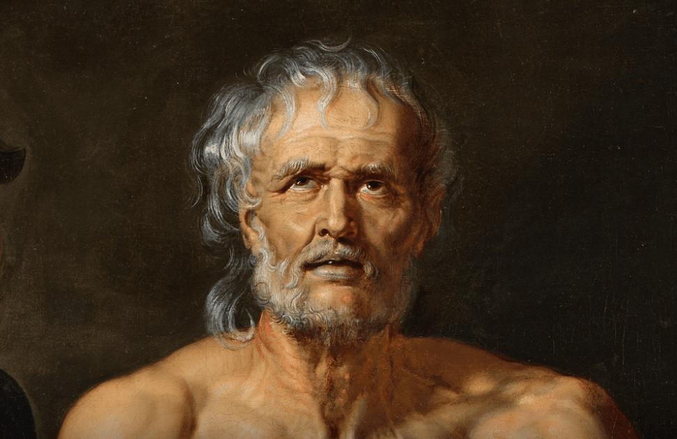 Parte del cuadro de La muerte de Séneca, por Rubens