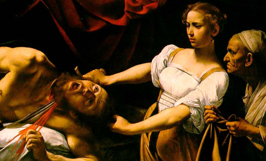 Judith degollando a Holofernes.