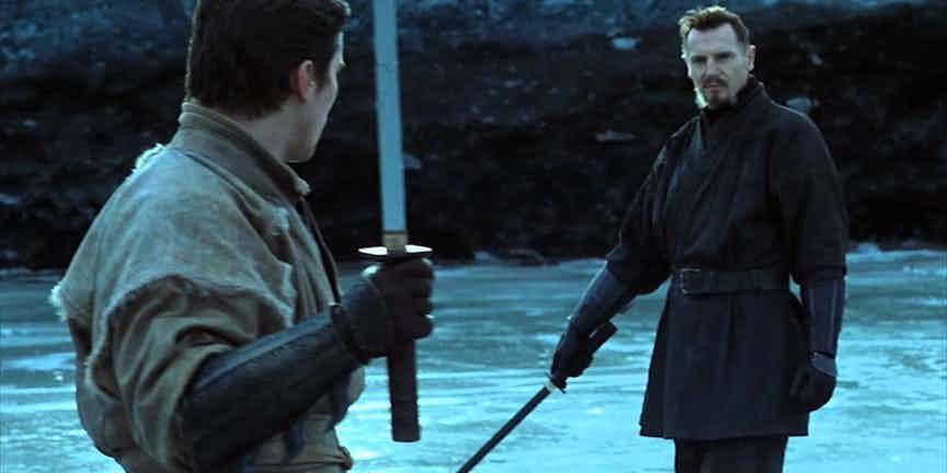 Bruce Wayne entrenando con Henri Ducard.