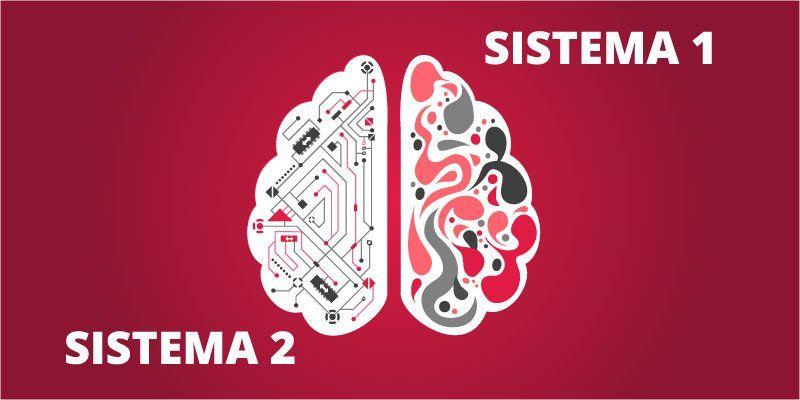 Representación de los dos sistemas del cerebro. Cada parte del cerebro influirá de una manera u otra a la hora de tomar decisiones