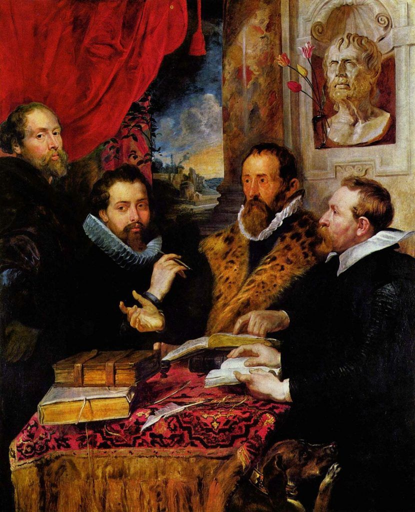 los cuatro filósofos cuadro de rubens