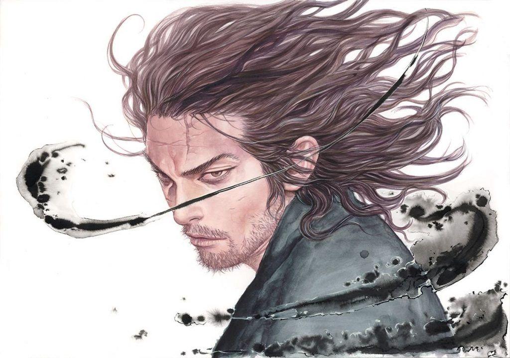Ilustración de Miyamoto Musashi