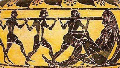 Ulises y el cíclope Polifemo